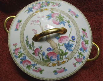 "Noritake ""Indian Tree Pattern"" - Round Covered Vegetable Bowl  -  Hand Painted - 1925"