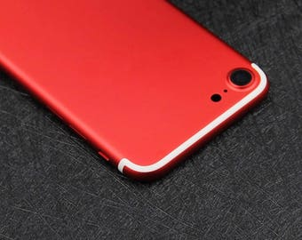 iPhone 7 Red with White Lines