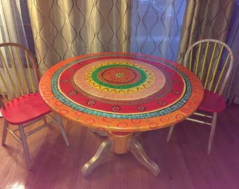 Attractive Customized Hand Painted Table