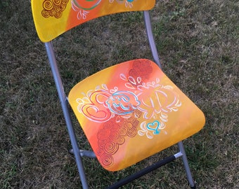 One of a kind Adinkra chairs