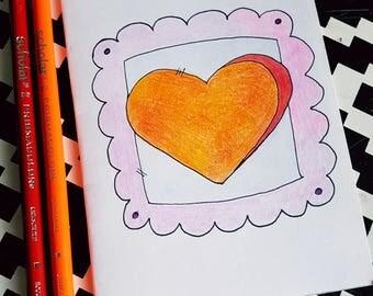 Cute heart card