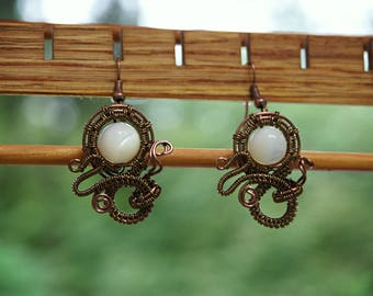 Steampunk Wire Wrap Earrings