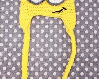Newborn Minion Crochet Hat