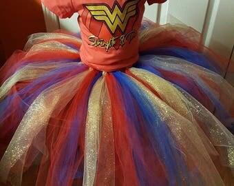 Wonder woman tutu costume (Make to order)
