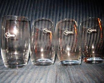 Set of 4 vintage Northwest Airlines highball glasses