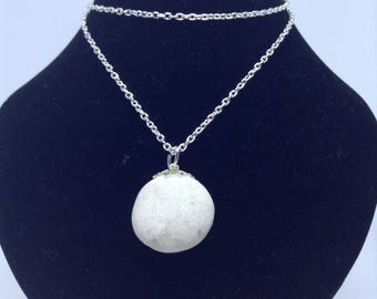 Tumbled Rock Necklace-White