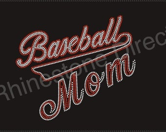 Baseball Mom Rhinestone Iron on Transfer