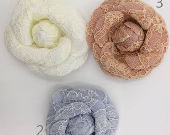 Lace Flower Pins for Bridal, Ballet, Sashes, Shoes, Headbands, Headpieces, Corsages F15