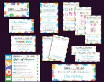 SALE! Rodan + Fields Marketing, Rodan and Fields Starter Kit, R+F marketing set, Personalized Card, Rodan and Fields Kit RF01