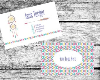 LuLaRoe Inspired Dream Catcher Marketing Bundle Business Card Facebook Cover Punch Card Home Office Approved Colors Fonts Digital Download