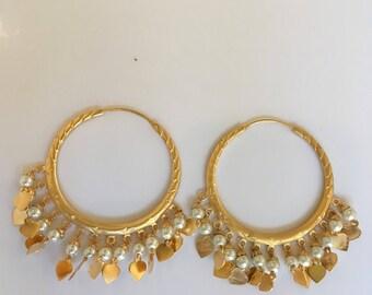 Gold finish earrings