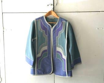 1970's G Girvin Jacket | Women's Blazer  | Vintage Stage Jacket