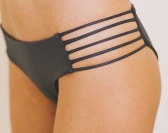 MULTI-STRAP Bikini Bottom - Graphite