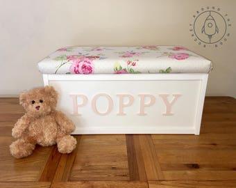 Personalised Toy Box, Custom Made, Bespoke, Storage Chest, Toy Trunk, Playroom, Nursery, Girls & Boys