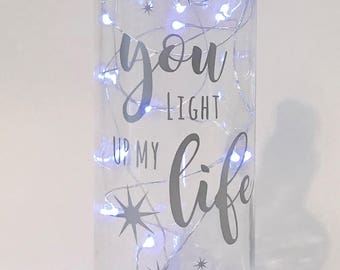 Wine Bottle Light - 'You Light Up My Life' | Wine Gifts - Gift for Her - Wine Bottle Decor - Wine Decor - Wine Lover Gift - Valentines