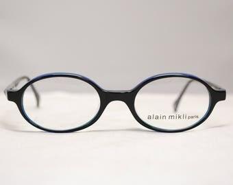 Vintage ALAIN MIKLI Deadstock Paris Multi Colored Plastic Eyeglasses Frames NOS / Model# 4009 Col 2204 / Retro Collectable Rare #1471
