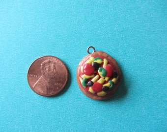 Pizza Polymer Clay Charm