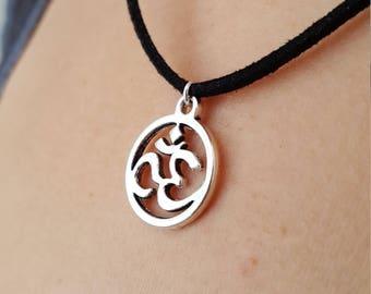 Symbol Om symbol, om, aum, yoga, zen necklace