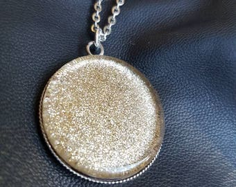 Handpainted gold sparkle pendant