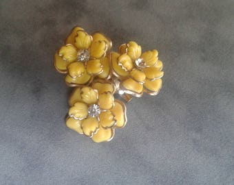 Vintage Pin, made from earrings.