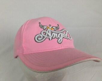 Pink angel hat