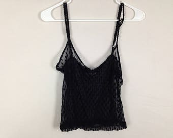 black see through top size S/M