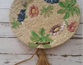 Vintage Majolica Hanging Plate