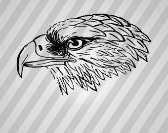 Eagle Silhouette - Svg Dxf Eps Silhouette Rld RDWorks Pdf Png AI Files Digital Cut Vector File Svg File Cricut Laser Cut