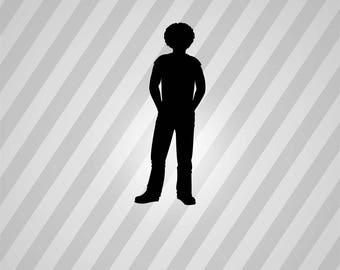 black man Silhouette - Svg Dxf Eps Silhouette Rld RDWorks Pdf Png AI Files Digital Cut Vector File Svg File Cricut Laser Cut