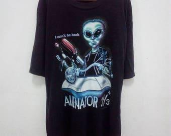 Rare!! Vintage 90s Alien Workshop T Shirt Alienator Terminator Troll