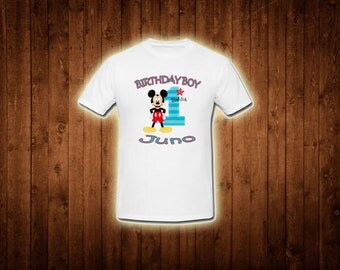 Inspired by mickey mouse theme birthday shirt