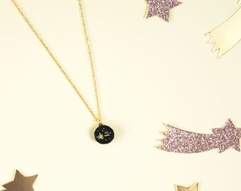 Embroidered necklace star Filante