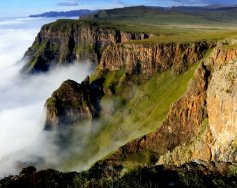 Canvas: Edge of Lesotho, Africa, Photography