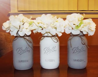 mason jars, mason jar decor, mason jar centerpieces, farmhouse decor, rustic decor, weddings, barn wedding, rustic wedding, country decor