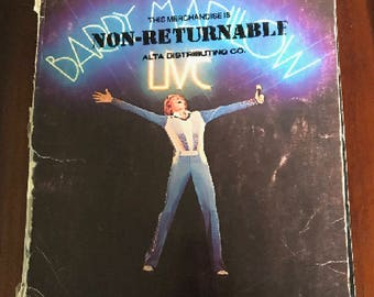 1977 Barry Manilow Live Piano & Guitar Songbook - MUST for Manilow Fans
