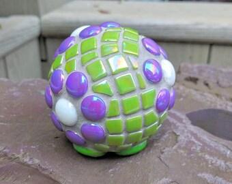 Purple Daisy Garden Mosaic Flower 70mm