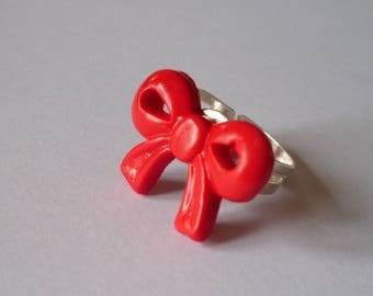 Red bow tie ring