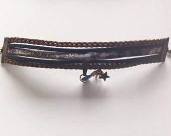 Bracelet Liberty tone khaki and Navy