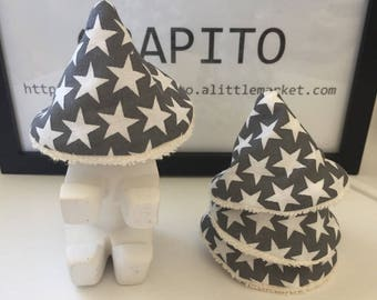 SET of 8 or 12 Teepees, penis, pee pee shield - Collection cone teepee Tipi * stars *.