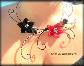 Black Red ceremony necklace