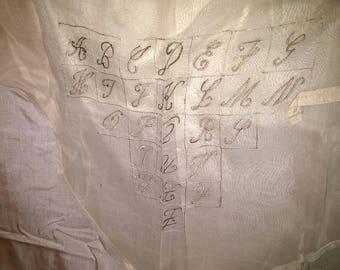 441) large curtain ecru, primer to tip