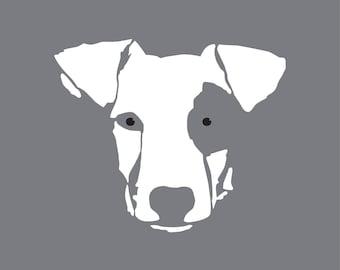 Dog head stencil. Jack Russell (ref 424) stencil