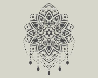 Mandala stencil. (Ref 787) adhesive vinyl stencil
