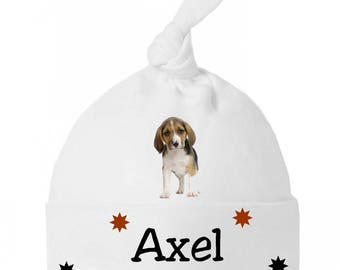 Beanie Baby bow baby beagle personalized with name