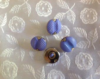 Set of four buttons antique color Lavender