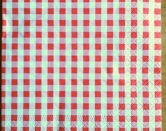 Red gingham napkin