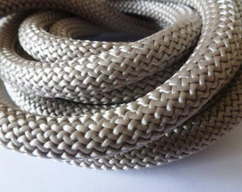 20 cm round braided rope 10mm taupe (ref PPC10T)