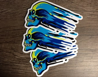 Skull ink stickers (Set of 3)