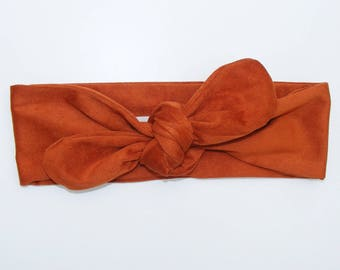 Headband / headband made of suede faux suede rust soft