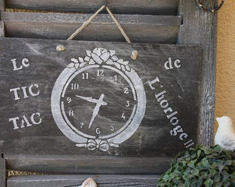 Slate tile on the theme of the time!